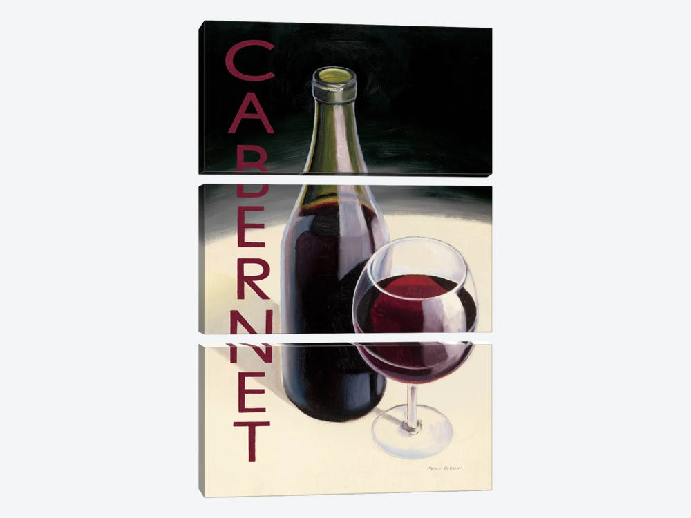 Cabernet by Marco Fabiano 3-piece Canvas Art Print