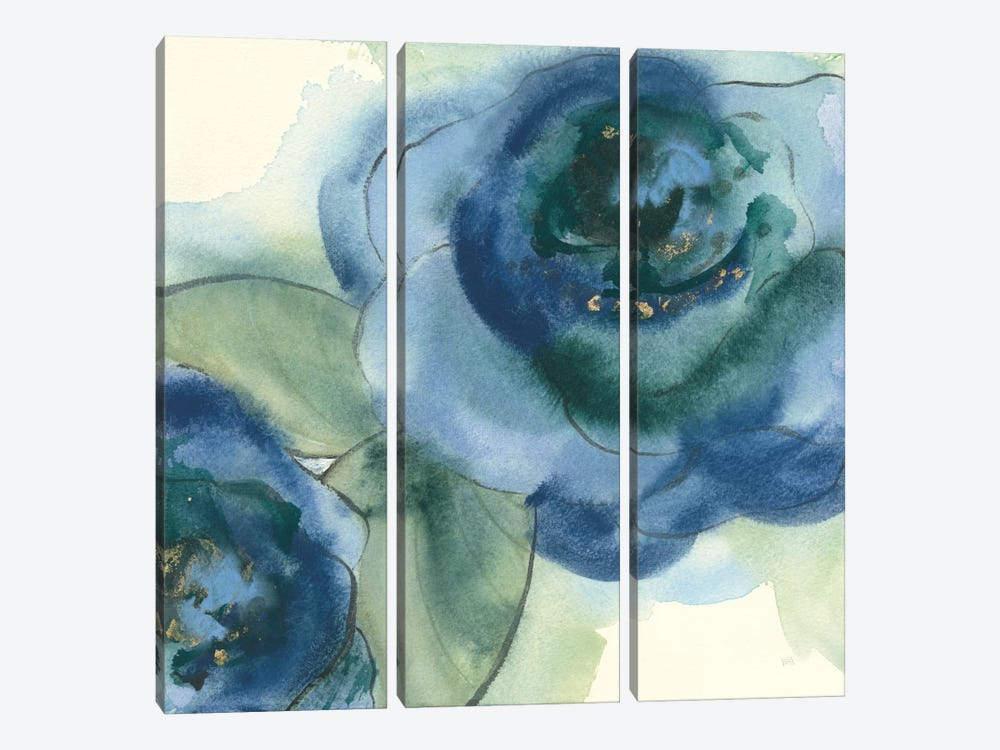 Wannabe Poppies II by Chris Paschke 3-piece Canvas Artwork