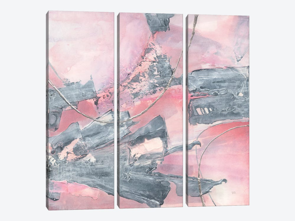 Whitewashed Blush III by Chris Paschke 3-piece Canvas Print