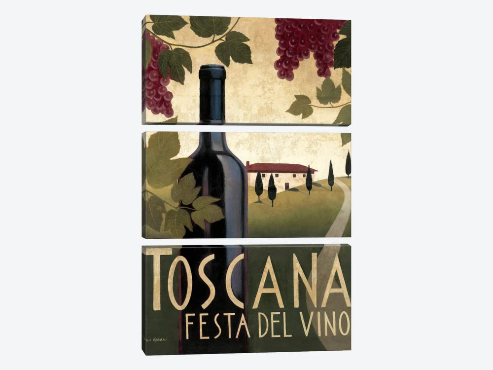 Wine Festival I  by Marco Fabiano 3-piece Canvas Art