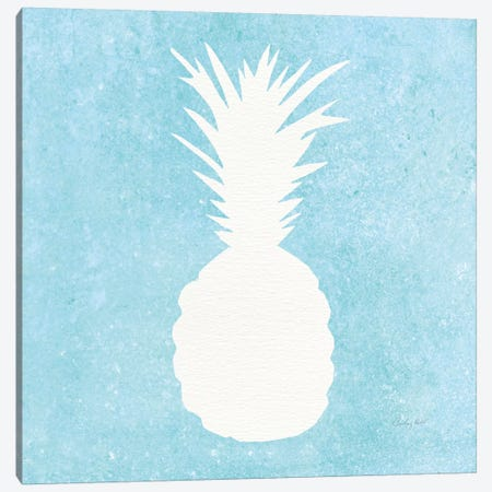 Tropical Fun: Pineapple Silhouette I Canvas Print #WAC8391} by Courtney Prahl Art Print