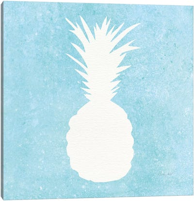 Tropical Fun: Pineapple Silhouette I Canvas Art Print
