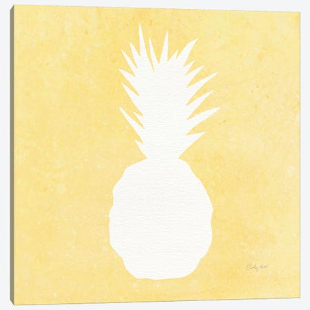 Tropical Fun: Pineapple Silhouette II Canvas Print #WAC8392} by Courtney Prahl Art Print