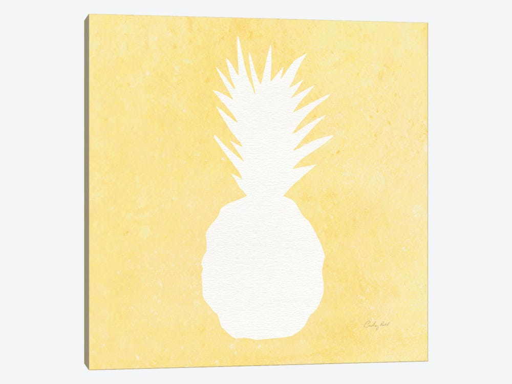 Tropical Fun: Pineapple Silhouette II 1-piece Canvas Art