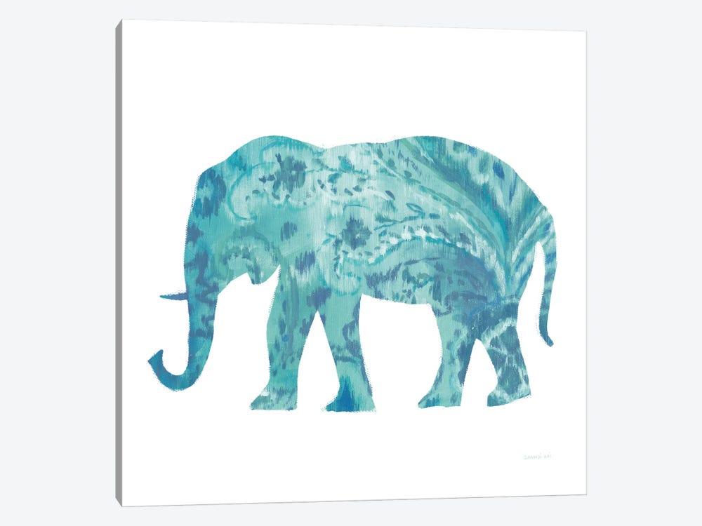 Boho Teal Elephant II by Danhui Nai 1-piece Canvas Art Print