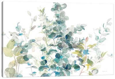 Eucalyptus On White I Canvas Art Print