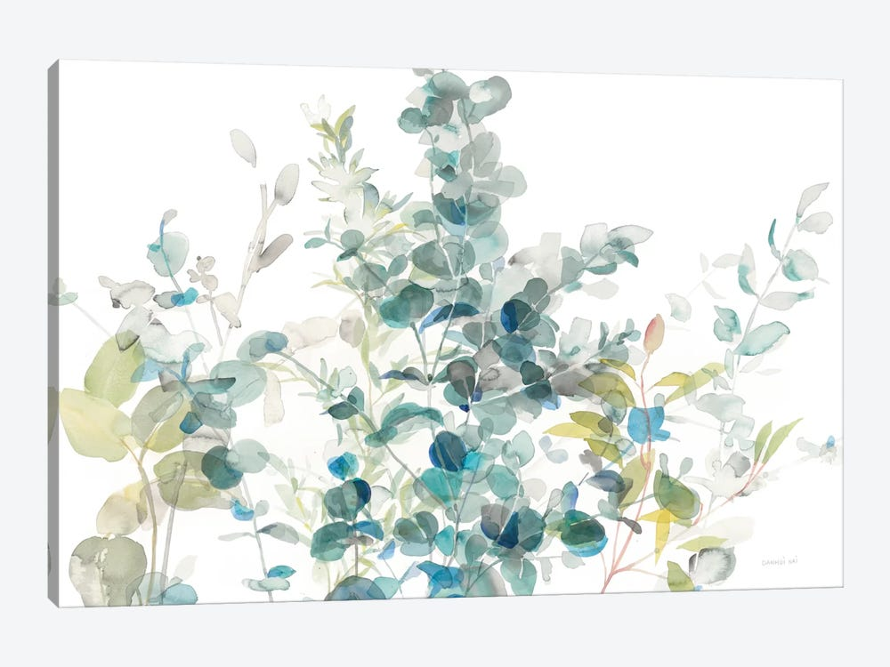 Eucalyptus On White I by Danhui Nai 1-piece Canvas Art