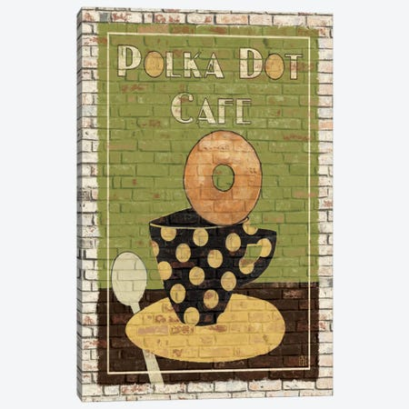Polka Dot Café Canvas Print #WAC83} by Avery Tillmon Canvas Print