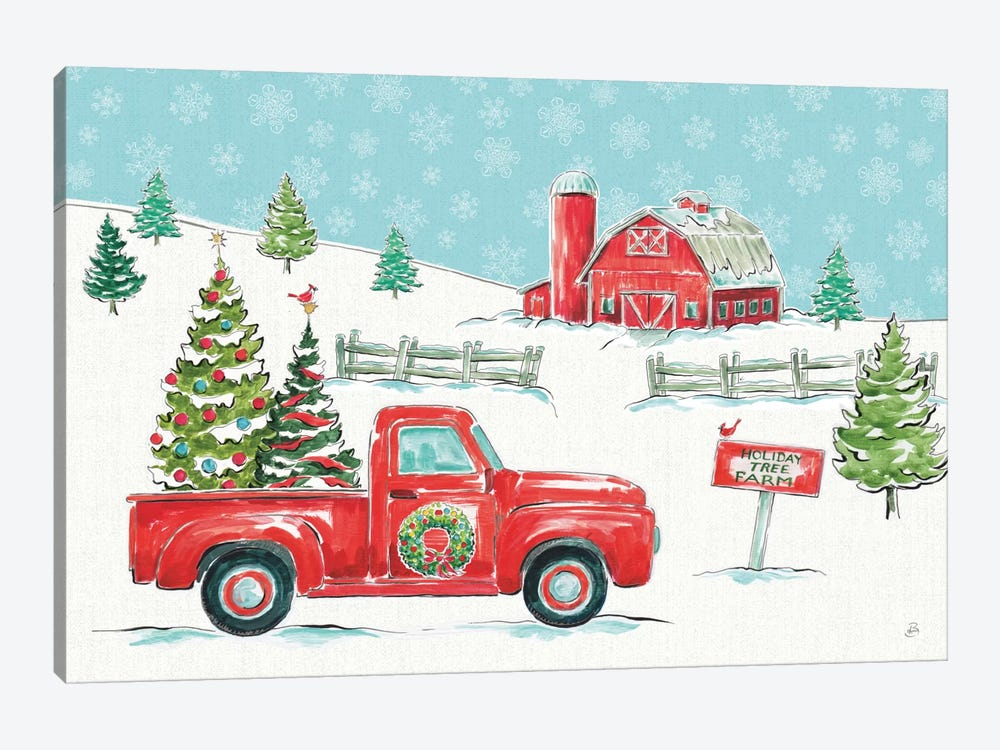 Christmas In The Country I by Daphne Brissonnet 1-piece Canvas Artwork