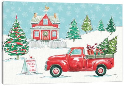 Christmas In The Country II Canvas Art Print