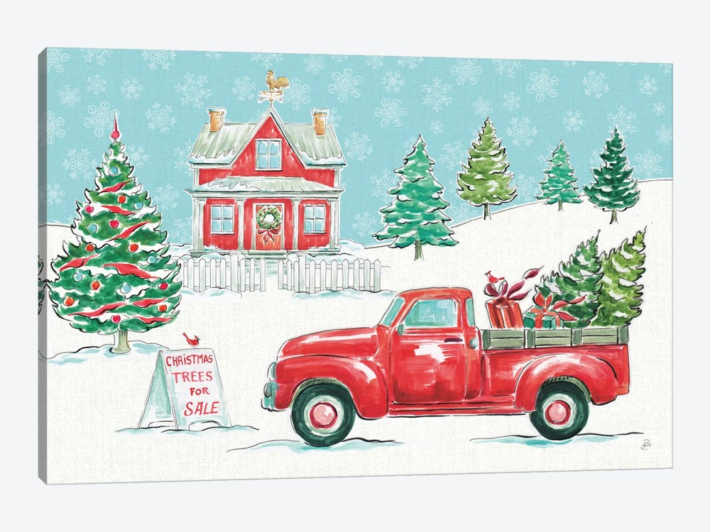 Christmas In The Country II by Daphne Brissonnet 1-piece Art Print