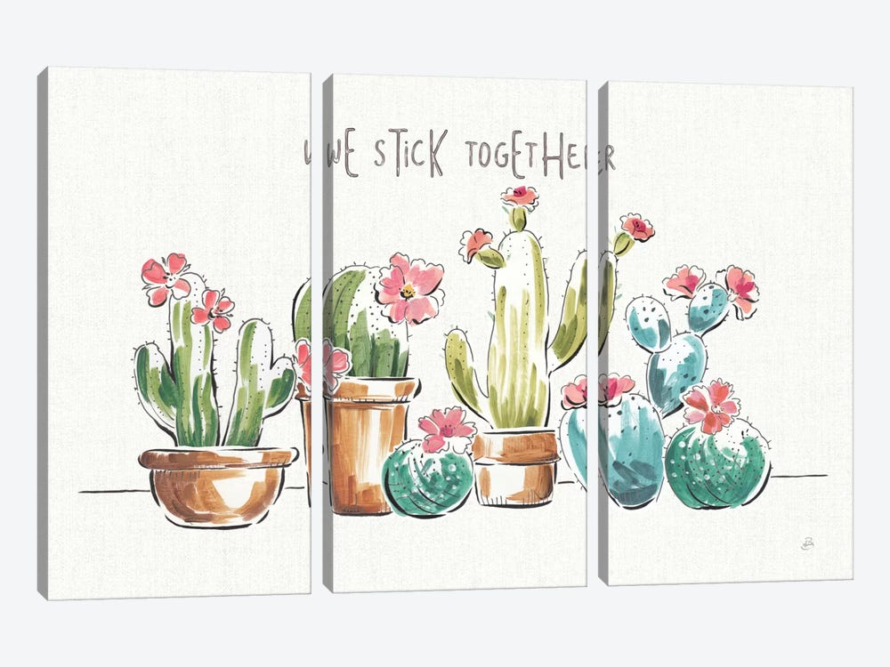 Desert Bloom I by Daphne Brissonnet 3-piece Canvas Print