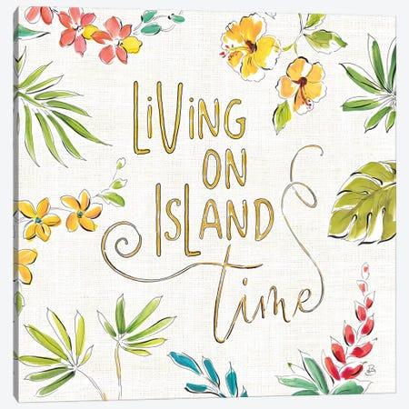 Tropical Oasis, White VI Canvas Print #WAC8425} by Daphne Brissonnet Canvas Artwork