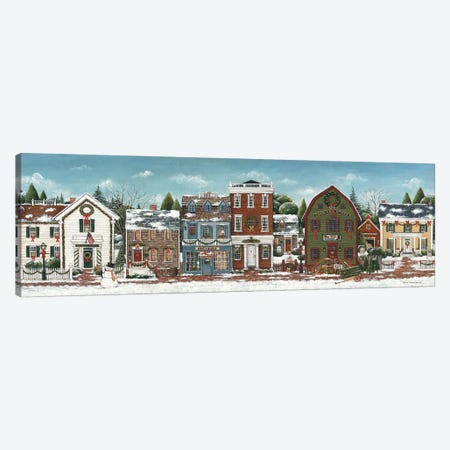 Christmas Village Canvas Print #WAC8427} by David Carter Brown Canvas Art
