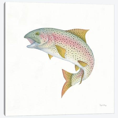 Gone Fishin': Rainbow Trout Canvas Print #WAC8430} by Elyse DeNeige Canvas Art