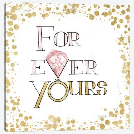 Love Rocks II, Pink Canvas Print #WAC8433} by Elyse DeNeige Canvas Art