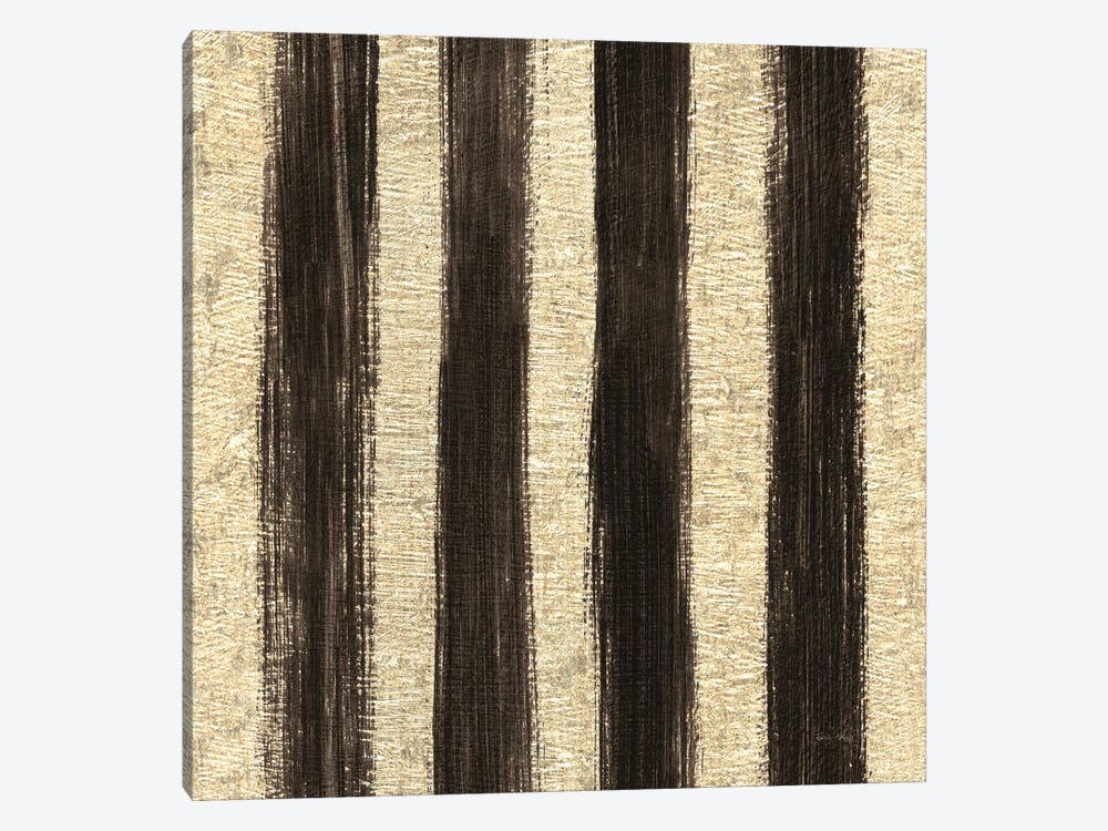 Shoe Fetish Pattern I, Dark Stripes by Emily Adams 1-piece Canvas Art Print