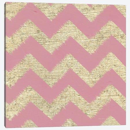 Shoe Fetish Pattern II, Pink Zig-Zags Canvas Print #WAC8438} by Emily Adams Canvas Wall Art