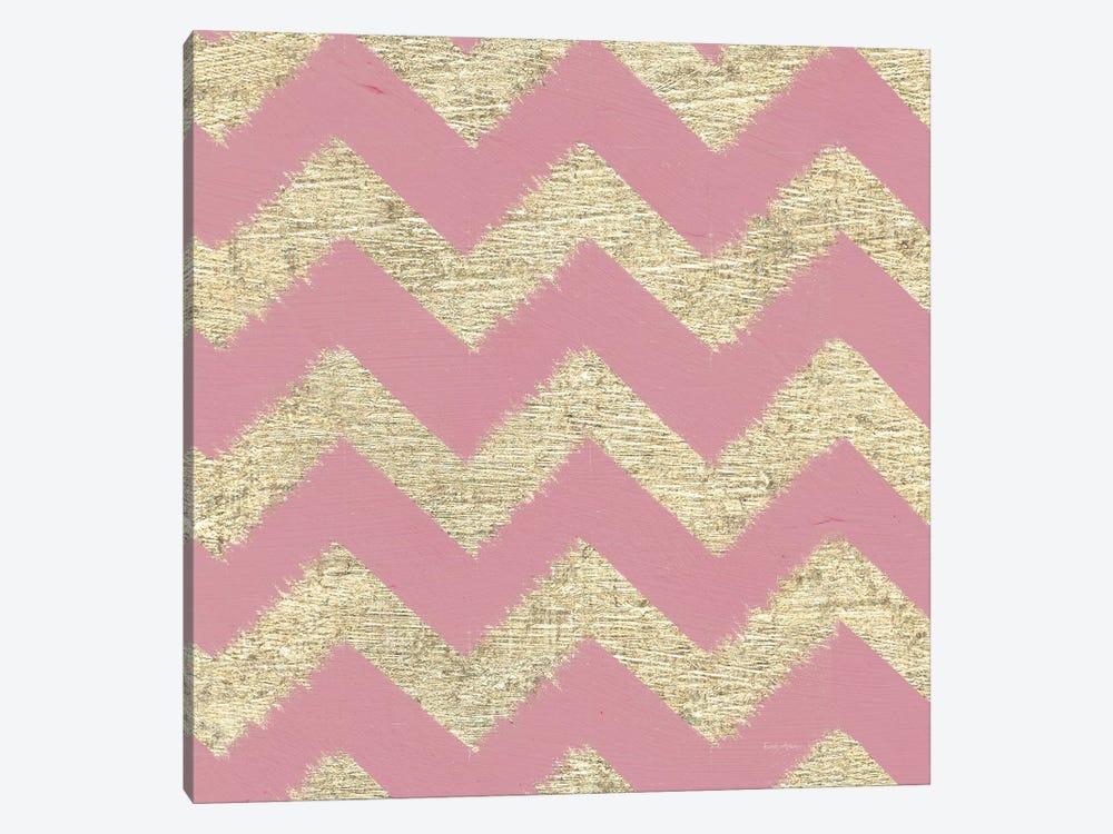 Shoe Fetish Pattern II, Pink Zig-Zags by Emily Adams 1-piece Art Print