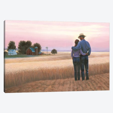 Family Farm Canvas Print #WAC8452} by James Wiens Canvas Art