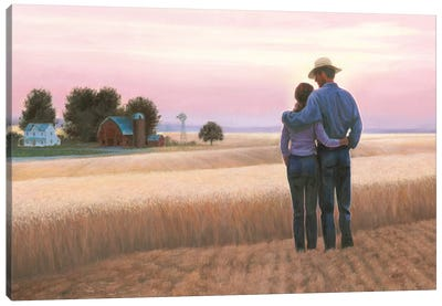 Family Farm Canvas Art Print