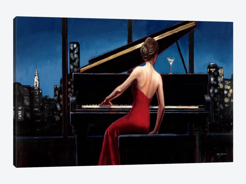 Lady in Red  by Marco Fabiano 1-piece Canvas Art
