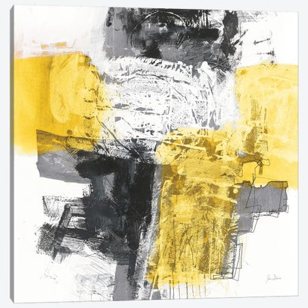 Action I, Yellow And Black Canvas Print #WAC8461} by Jane Davies Canvas Print