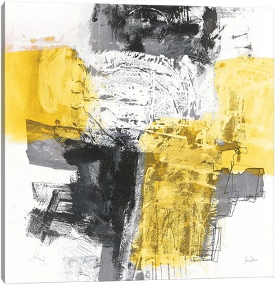 Action I, Yellow And Black Canvas Art Print