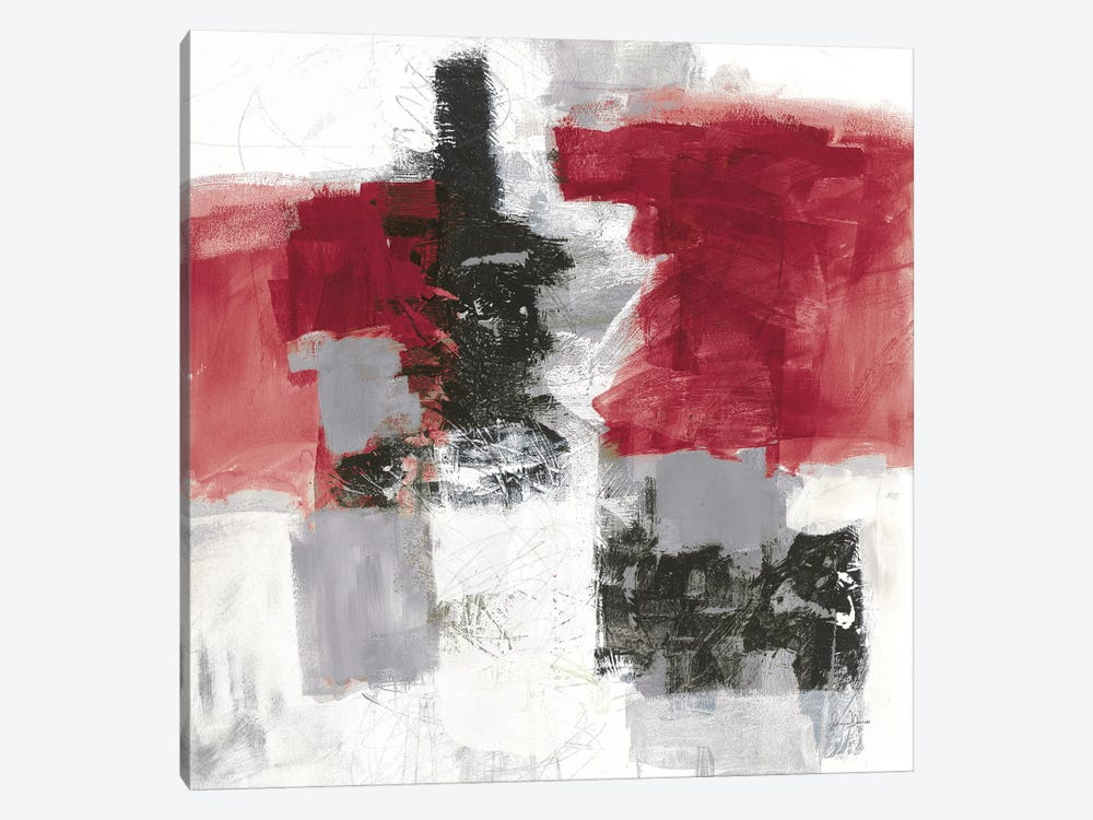 Action II, Red & Black by Jane Davies 1-piece Canvas Wall Art