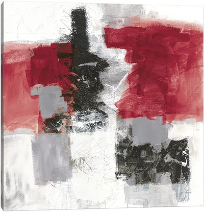 Action II, Red & Black Canvas Art Print