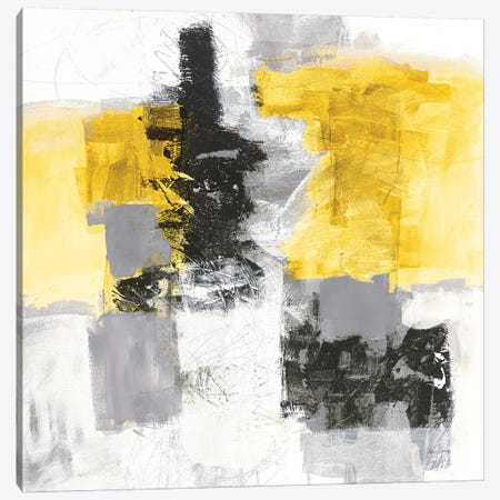 Action II, Yellow And Black Canvas Print #WAC8463} by Jane Davies Canvas Art Print