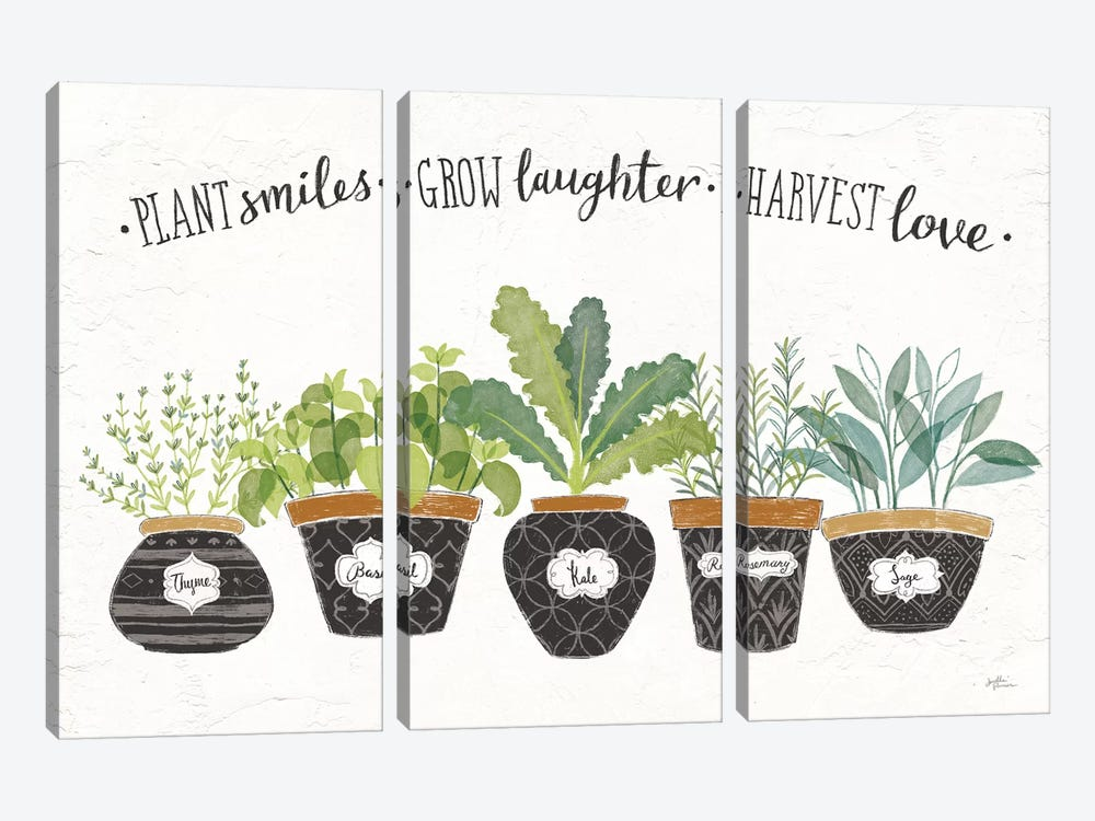 Fine Herbs I by Janelle Penner 3-piece Canvas Artwork