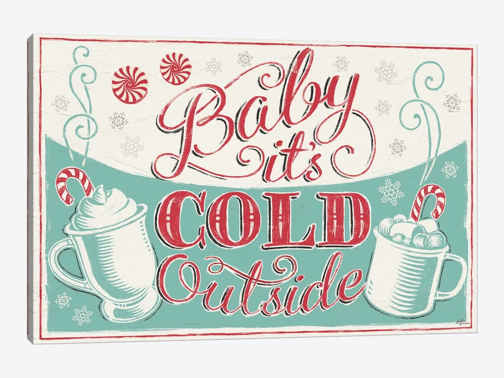 Merry Little Christmas: Baby It's Cold Outside by Janelle Penner 1-piece Canvas Artwork