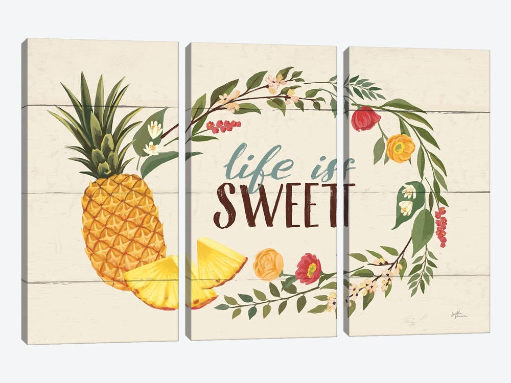 Sweet Life X by Janelle Penner 3-piece Canvas Artwork