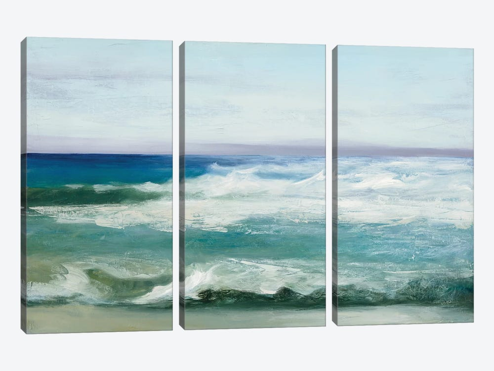 Azure Ocean by Julia Purinton 3-piece Canvas Print
