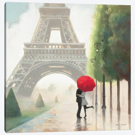 Paris Romance II  Canvas Print #WAC848} by Unknown Artist Canvas Art