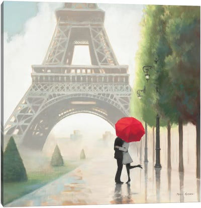 Paris Romance II  Canvas Art Print