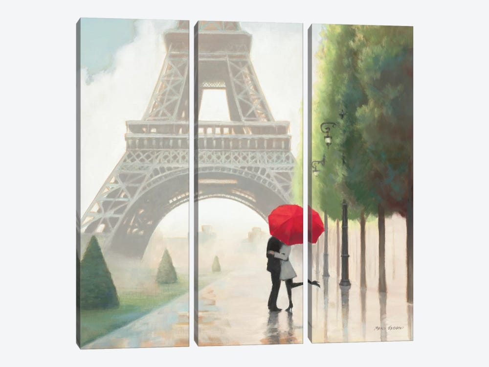 Paris Romance II 3-piece Canvas Print
