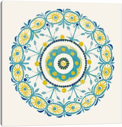 Lakai Circle I, Blue And Yellow Canvas Art Print
