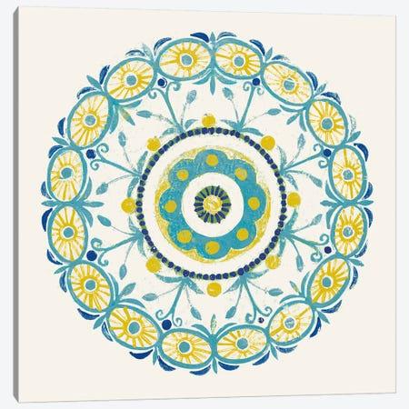 Lakai Circle I, Blue And Yellow Canvas Print #WAC8492} by Kathrine Lovell Canvas Artwork