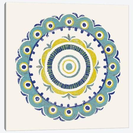 Lakai Circle II, Blue And Yellow Canvas Print #WAC8493} by Kathrine Lovell Canvas Wall Art