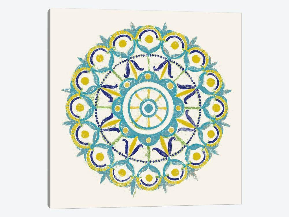 Lakai Circle V, Blue And Yellow by Kathrine Lovell 1-piece Art Print