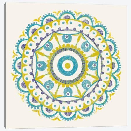 Lakai Circle VI, Blue And Yellow Canvas Print #WAC8495} by Kathrine Lovell Canvas Art Print
