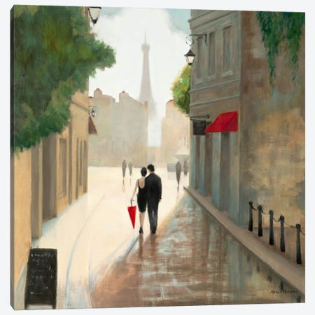 Paris Romance I  Canvas Print #WAC849} Canvas Wall Art