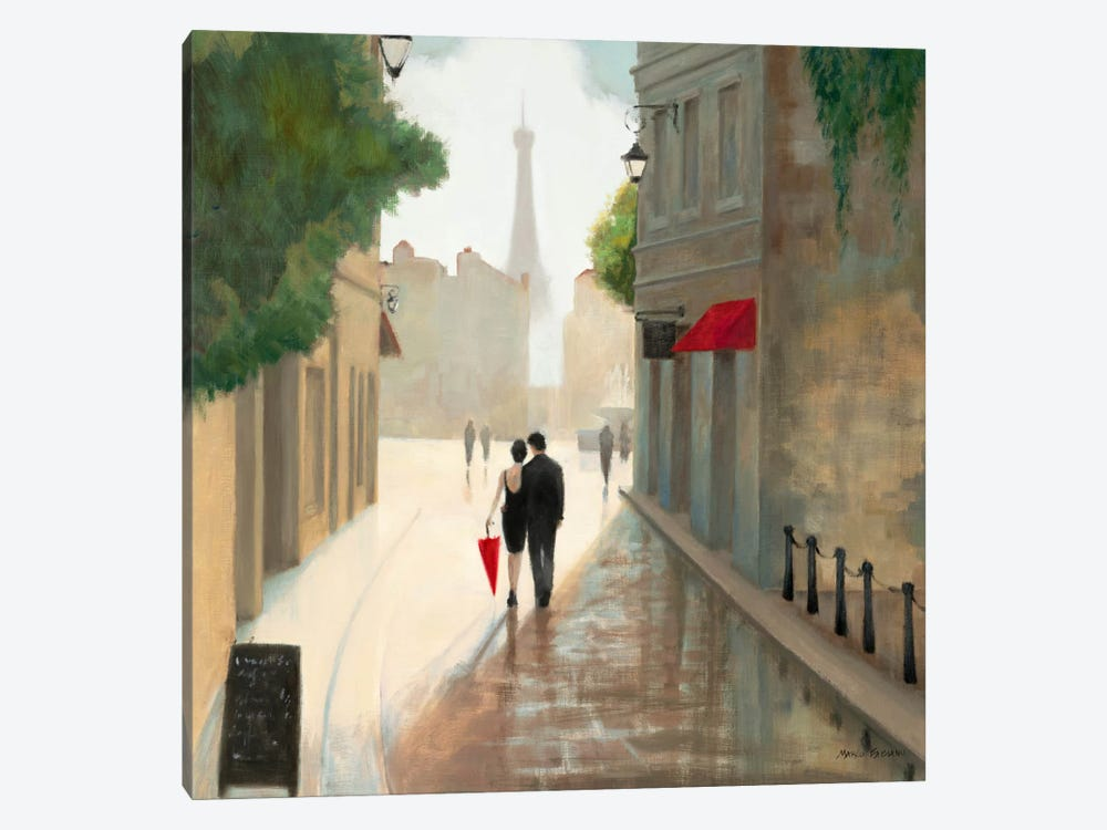 Paris Romance I  1-piece Canvas Artwork