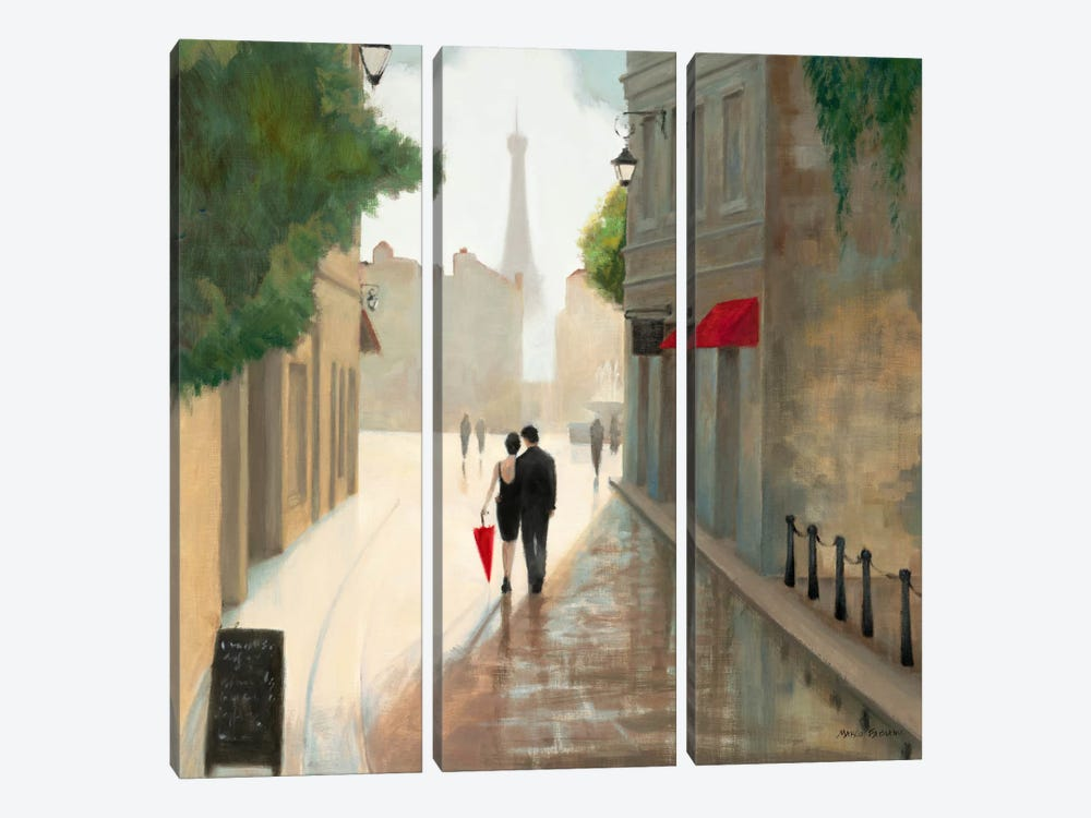 Paris Romance I  by Unknown Artist 3-piece Canvas Wall Art