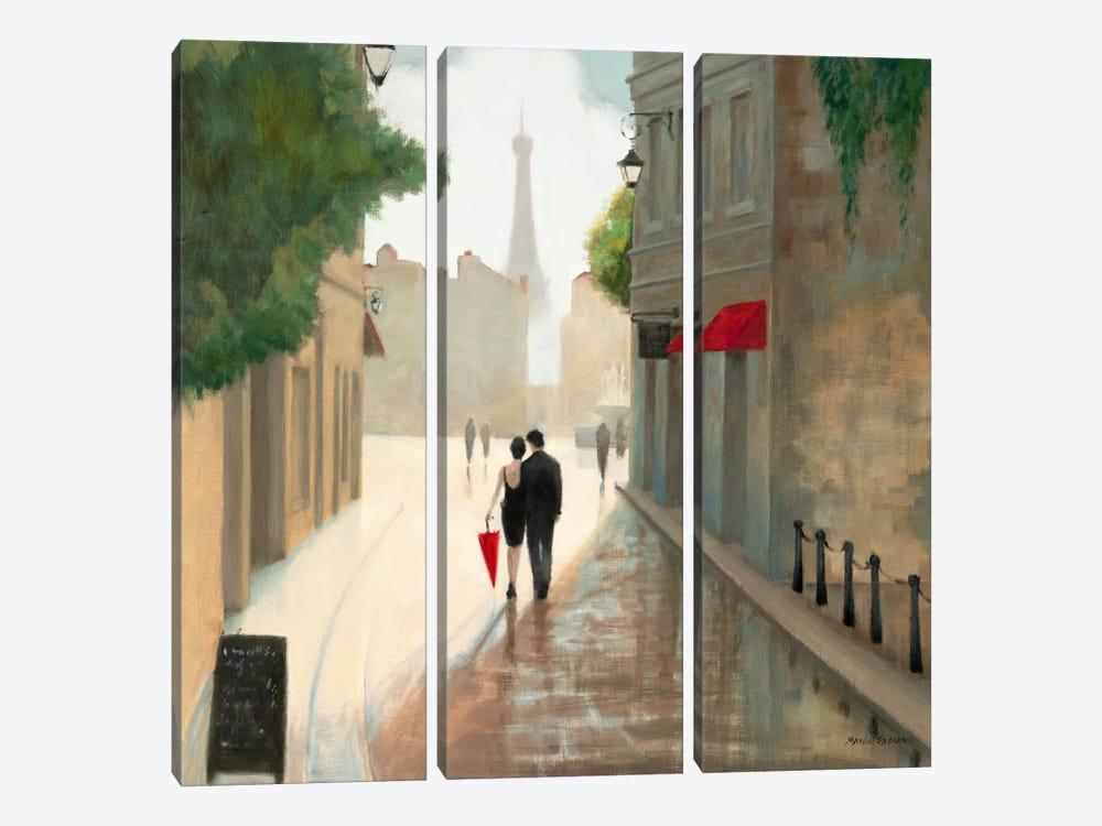 Paris Romance I  by Unknown Artist 3-piece Canvas Wall Art
