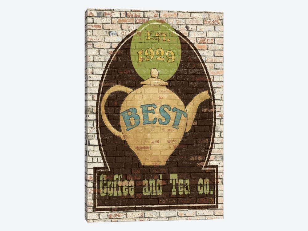 Best Coffee and Tea by Avery Tillmon 1-piece Canvas Wall Art