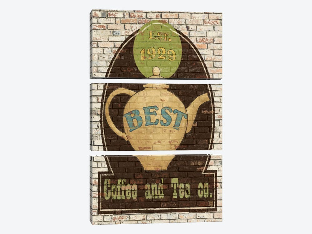 Best Coffee and Tea by Avery Tillmon 3-piece Canvas Art