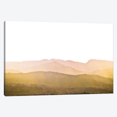 A Watercolor Wash Of Light, Mustard And Blush Canvas Print #WAC8500} by Keri Bevan Canvas Wall Art